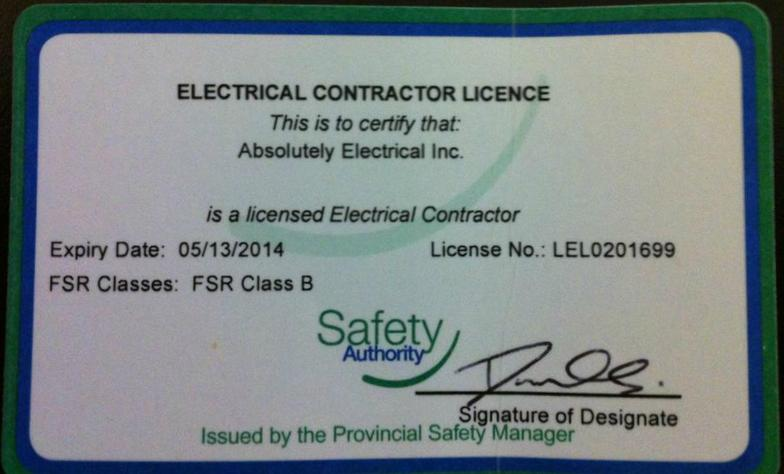 Electrical Contractor License Posex Posex